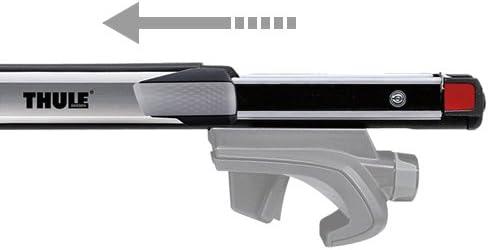 Longueur 162 cm Thule 893000 Barres de Toit SlideBar 893 /à coulissement bidirectionnel en Aluminium-Argent/é Gris