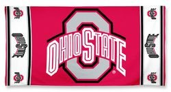 (WinCraft NCAA Ohio State Buckeyes Beach Towel, Team Color, One Size)