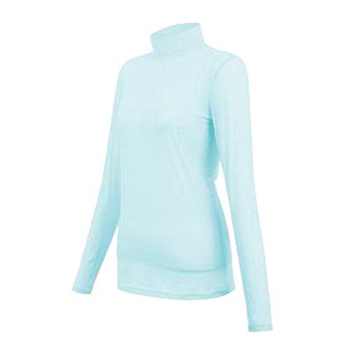 PGM Golf Clothing Silk Touch Anti-UV Ladies Base Shirt Long Sleeve T-shirt Blue,M