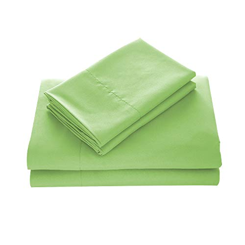 - WAVVA Bedding Luxury 4-Pcs Bed Sheets Set- 1800 Hotel Collection Deep Pocket, Wrinkle & Fade Resistant (Queen, Lime)