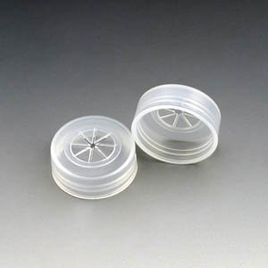 Cap, Snap, PE, with Pierceable Cross Cut, for Sample Cups: 110021, 110610, 110621 & 110711 by Globe Scientific