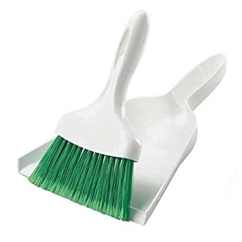 Amazon Com Whisk Broom W 10in Dust Pan White Green