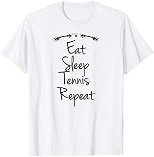 Birthday Gift Tennis  Funny Tennis shirt, Eat Sleep Tennis Repeat Tee Short and Long Sleeve Shirt/Hoodie