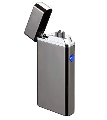 Cigar Lighter, Rechargeable Plasma Electric Arc Lighter,Flameless Windproof Lighter for Fire,Cigarettes,Candles,Grill,Outdoor BBQ,Camping with Gift Box