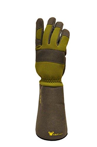 G & F 2431L Florist Pro Long Sleeve Rose gardening Gloves, Rose Pruning Gloves, Thorn Resistant Garden Gloves - Mens Large