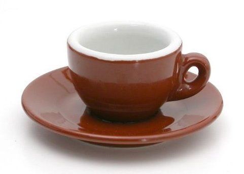 - Nuova Point Sorrento Brown 6-piece Espresso Cup & Saucer Set