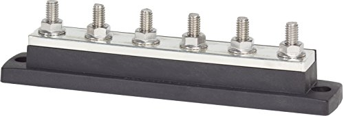 Blue Sea Systems MaxiBus 250A BusBar with Six Terminal 18 Studs of 5/16-Inch ()