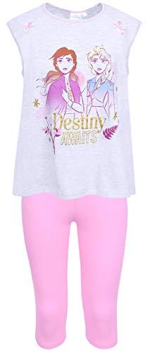 Grijs/Roze Top & Bottoms Pyjama Set Voor Meisjes, Kalflengte Broek FROZEN DISNEY