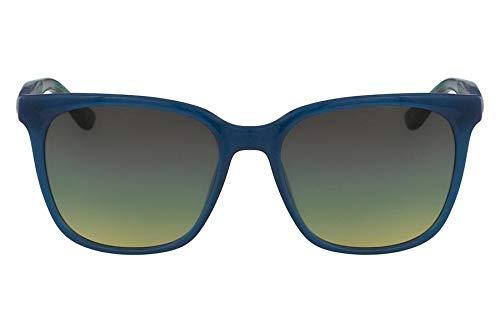 Óculos Lacoste L861S 466 Azul Translúcido Verde Estampado Lente Marrom Flash Tam 55