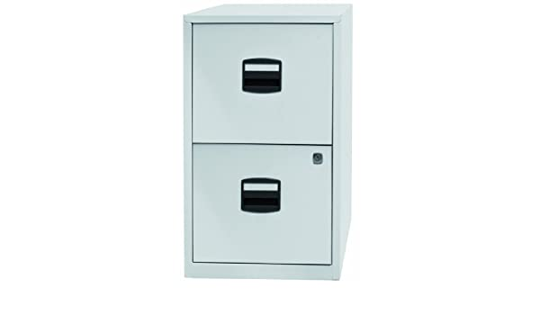 Bisley archivador de metal con 2 cajones A4, metal, Chalk White, 672mm High by 413mm wide by 400mm deep: Amazon.es: Hogar