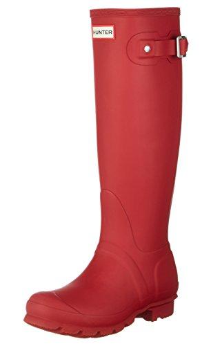 Hunter Damen Wellington Boots Gummistiefel Rot