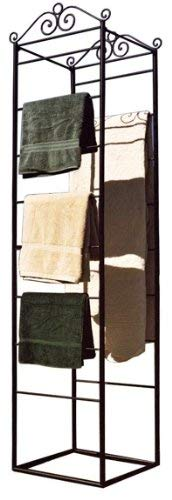 PTC Home & Garden Square Base Blanket Rack, Black (Ptc 16 Rack)