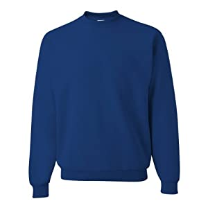 Jerzees Men's 562MR Crew Neck Sweatshirt, Royal, Large