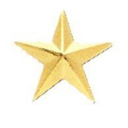 (GOLD STAR ARMY MILITARY POLICE GENERAL COLLAR UNIFORM BRASS PINS INSIGNIA EMBLEM 1