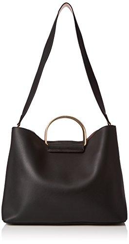 Borsa A Tracolla Shopper Per Signore Dorothy Perkins In Metallo, Nera (nera), 42x30x15 Cm