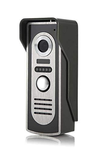 7 Inch Video Doorbell Intercom Wired Door Phone Kit Visual Entry System Outdoor Ir Camera Support Unlock Night -