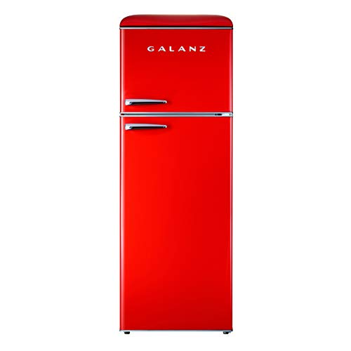 Galanz GLR12TRDEFR Retro Refrigerator, 12.0 Cu Ft, Red