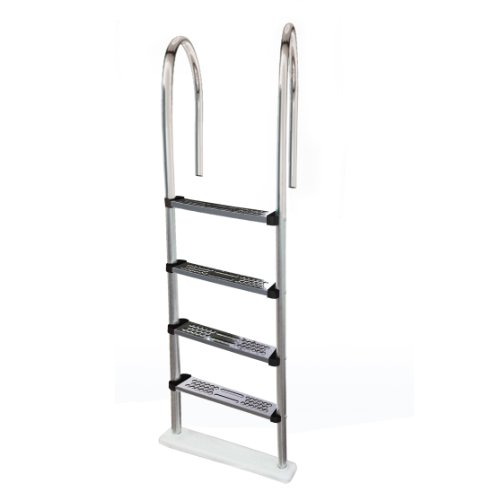 Blue Wave NE1145 Premium Stainless Steel In-Pool Ladder for Above Ground Pools - Ladder Steel