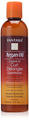Fantasia Ic Argan Oil Leave In Curl Detangler Conditioner 8 Oz (Fantasia Ic Leave)