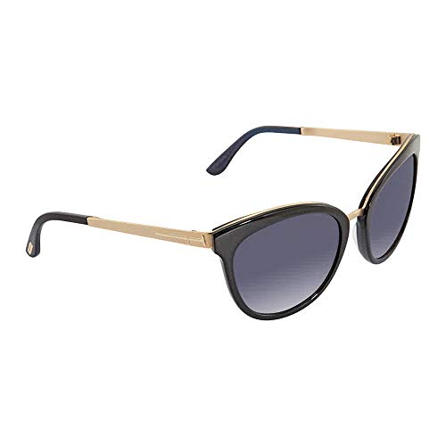 Tom Ford TF461 05W Black/Blue Emma Cats Eyes Sunglasses Lens Category 3 Size (Tom Ford Sunglasses)