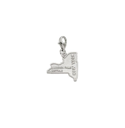 Rembrandt Charms Buffalo, Niagara Falls Charm with Lobster Clasp, Sterling Silver