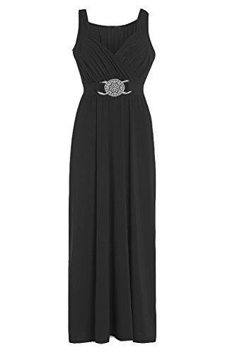 Vestido largo de noche para mujer negro negro XXL/XXXL 52-54