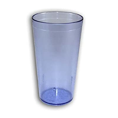 NEW, 16 Oz. (Ounce) Restaurant Tumbler Beverage Cup, Glassware & Drinkware, Stackable Cups, Break-Resistant Commmerical Plastic, Set of 6 - Blue