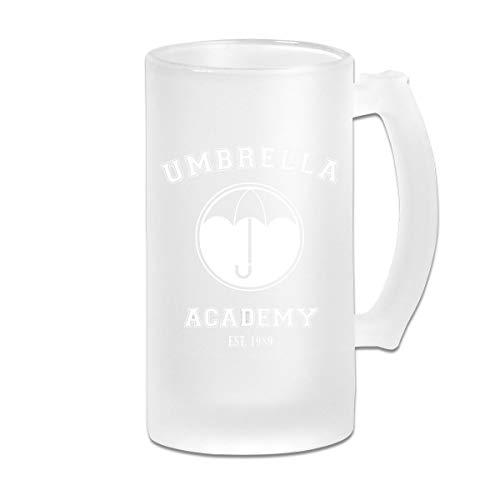 Printed 16oz Frosted Glass Beer Stein Mug Cup - Umbrella Academy Varsity Logo - Graphic Mug