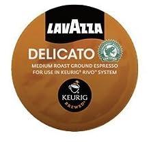 Lavazza Delicato, Medium Roast, Espresso Packs for Keurig Rivo Systems by Lavazza