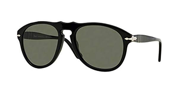 8c88ae5ee3a6c Amazon.com  Persol Men s PO0649 Sunglasses Black Crystal Green ...