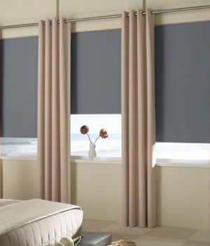 Made-to-Order Roller Shades Specials, Custom Blackout Roller Shades, 66W x 75H, Earth Tone Sand