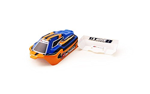 Carisma 15380 GT24B Painted and Decorated Buggy Body Orange//Blue Replacement Parts HRP Distribution CIS15380