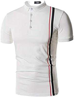 Loser Men Regular Fit Cotton Polo Shirts Classic Short Sleeve Polo White