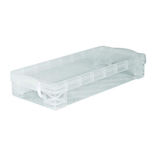 Super Stacker Pencil Box, 8.25 x 1.5 x 4 Inches, Clear, 1 Box (40309) -