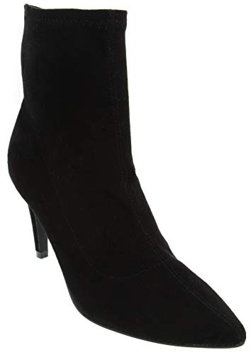 Dune London Head Over Heels Womens Oliana Micro Suede High Heel Shoe Ladies Mid Calf Boot Black 7