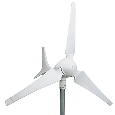 WINDMILL 600W (12V / 24V) (50A / 25A) Wind Turbine Generator kit. MPPT charge controller included (Amp, Volt & Watt display) + automatic and manual braking system. DIY installation.