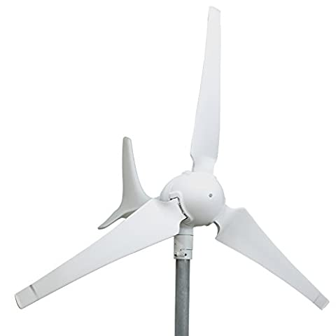 WINDMILL 600W (12V / 24V) (50A / 25A) Wind Turbine Generator kit. MPPT charge controller included (Amp, Volt & Watt display) + automatic and manual braking system. DIY (12 V Prius Outlet)