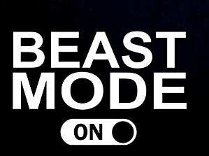 - BEAST Mode On Decal Vinyl Sticker|Cars Trucks Vans Walls Laptop|WHITE|5.5 in|CCI359