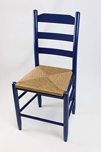 - Dixie Seating Beach Mountain Wood Ladderback Dining Chair No. 80W Coastal Blue