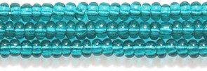 Preciosa Ornela Czech Seed Bead, Transparent Emerald, Size 10/0 Shipwreck Beads 10SB287
