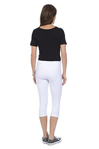 Lysse Womens Classics Perfect Denim Lysessefit hi-waist Capri Pants-White-2X