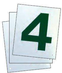 Har-Tru Tennis, Bocce, Golf Court Accessories - Tennis Court Numbers, 8''x10'' - Pack of 4 Court Numbers, 1-4