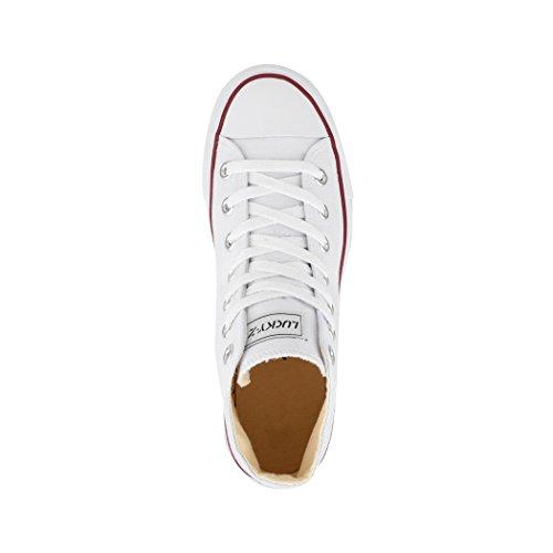 Unisex Sneakers nbsp;47 Tessile Scarpe 36 Bianco High Sneaker Elara Sport nbsp;– Top Uomo Donna Per Scarpe AwAz6dfq