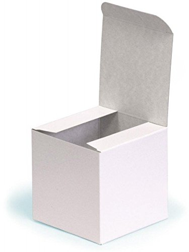 10 x white flat pack square box 150 x 150 x 150mm square flat pack