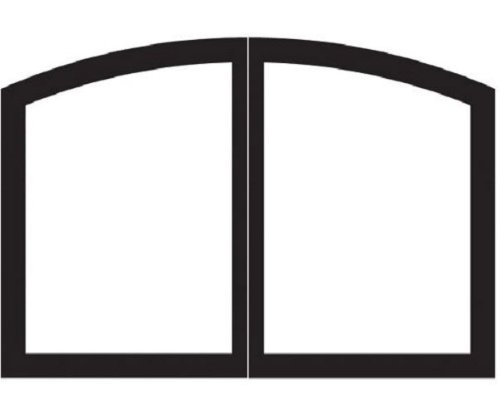Arch 32 inch Firebox Doors VBR32TCBL - Matte Black ()