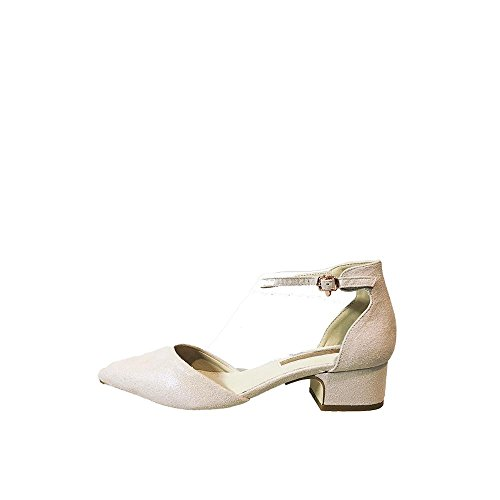 Mujer Tobillo de y Correa 41 Talla Lateral Abierto Nude XTI cuerolite Zapato Antelina Plataforma Suela xIqfzXwa