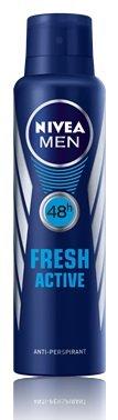 - Nivea Mens Deodorant Spray Fresh Active 48H 150 Ml