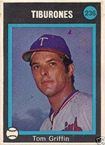 1973 Made in Venezuela Stickers (Baseball) Card# 236 Tom Griffin of the La guaira VGX Condition by Made in...