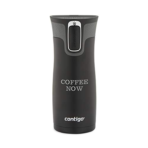 Personalized Contigo Matte Black West Loop Autoseal 16 OZ Stainless Steel Travel Mug, Mug with Engraving Included]()