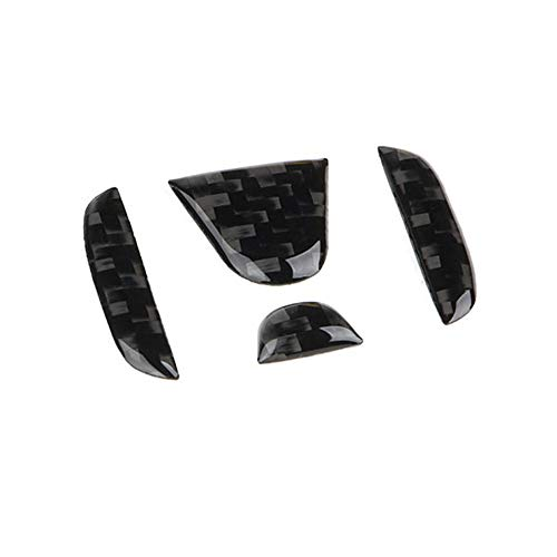 TopDall Carbon Fiber Steering Wheel Center 3D Sticker Cover Trim For Honda Civic ()
